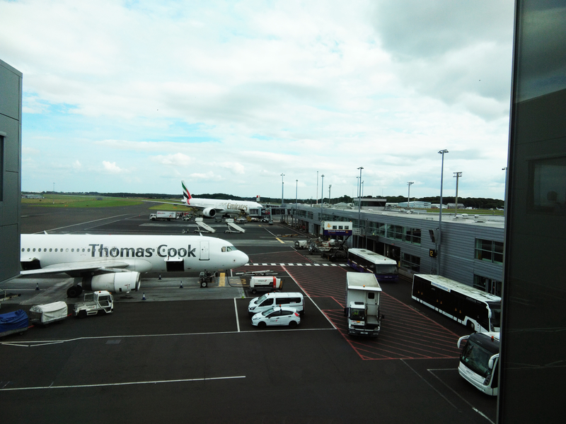 Newcastle Airport is the main international airport serving Newcastle upon Tyne, England,